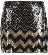 Alice + Olivia Alice+olivia Elana Sequined Crepe Mini Skirt