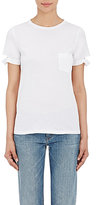 Helmut Lang Women's Distressed-Cuff T-Shirt-WHITE
