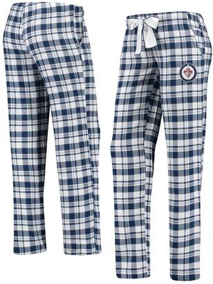 Women's Concepts Sport Navy/White Winnipeg Jets Piedmont Flannel Pants