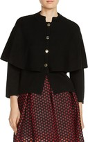 Maje Montreux Snap-Front Cape-Style Cardigan