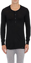 Hanro Men's Wool-Silk Henley T-Shirt