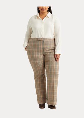 Ralph Lauren Wide-Leg Cotton-Wool Pant