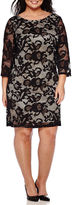 Ronni Nicole RN Studio by 3/4-Sleeve Lace Sheath Dress - Plus