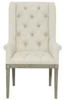 Bernhardt Marquesa Tufted Upholstered Wingback Arm Chair in Beige