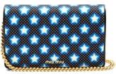 Miu Miu Star-print canvas and leather cross-body bag