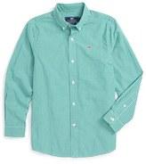 Vineyard Vines Boy's Fireside Gingham Woven Shirt