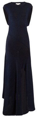 Chloé Open-back Knitted Midi Dress - Womens - Navy