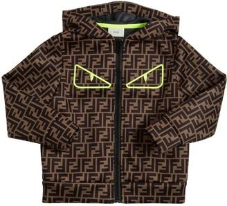 Fendi Logo Neoprene Jacket