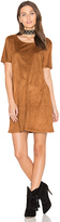 Bishop + Young Sueded Ivy Shift Dress in Cognac. - size XS (also in )