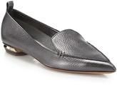 Beya Metallic Leather Loafers