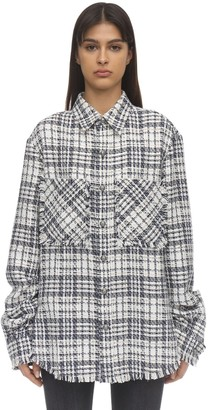 Faith Connexion Fitted Tweed Shirt Jacket