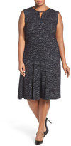 Nic+Zoe Tweed Jacquard Fit & Flare Dress (Plus Size)