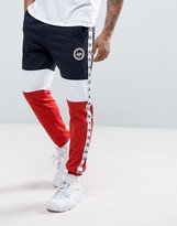 Hype Skinny Joggers In Tri-colour Panels With Taping