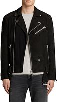 Allsaints Allsaints Bonson Suede Biker Jacket, Washed Black