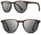 Shwood Women's 'Belmont Flower' 51Mm Polarized Wood Sunglasses - Scarlet Flower/ Grey Polar