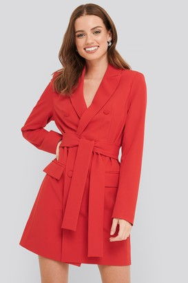 NA-KD Belted Double Breasted Blazer Dress