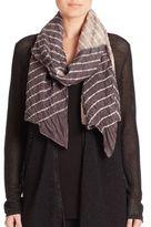Eileen Fisher Striped Silk Scarf