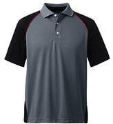 Lands' End Men's Colorblock Active Polo Shirt-Gray