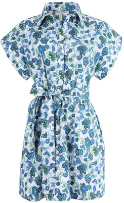 Givenchy Blue Floral Button-down Dress