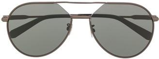 Brioni Matte-Finish Aviator Frame Sunglasses