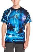 Liquid Blue Men's Plus-Size Tribal Wolf T-Shirt