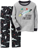 Carter's 2 Piece PJ Set (Toddler/Kid) - Black Space-6