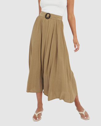 Forcast Women's Maxi skirts - Gina Buckled Maxi skirt - Size One Size, 6 at The Iconic