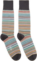 Paul Smith Three-Pack Multicolor Striped Socks