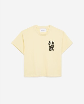 The Kooples Yellow cotton T-shirt with embroidered logo