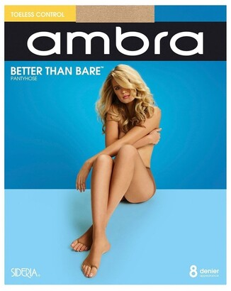 Ambra Better Than Bare Toeless Control Pantyhose Ecru