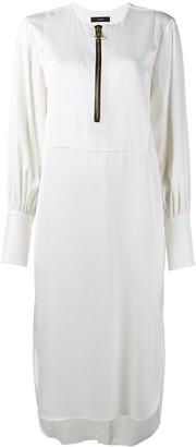 Ellery Front Zip Midi Dress