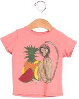 Mini Rodini Girls' Monkey Print Short Sleeve Top