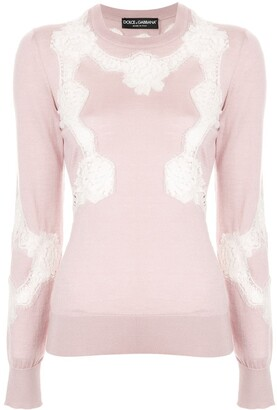 Dolce & Gabbana Chantilly lace sweater