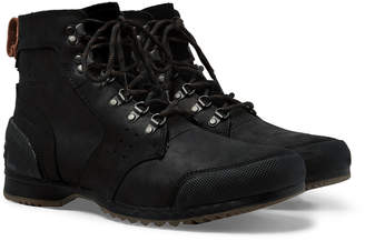 Sorel Ankeny Waterproof Rubber and Suede-Trimmed Leather Boots - Men - Black