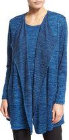 Caroline Rose Lightweight Brushed-Knit Vest, Blue Lagoon, Petite
