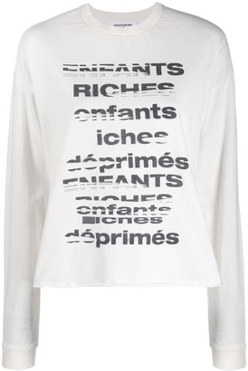 Enfants Riches Deprimes TV Static relaxed-fit sweatshirt