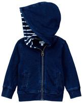 Splendid Indigo Zip Front Hoodie (Baby Boys)