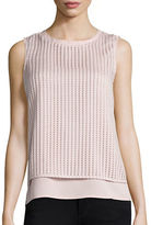 Calvin Klein Quilted Cutout Sleeveless Top