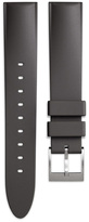 Uniform Wares Men's tapered nitrile rubber watch strap in dark grey with brushed steel buckle