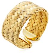 Roberto Coin 18K Yellow Gold-plated Silver Woven Medium Cuff Bracelet