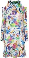 Etro patterned cold shoulder dress