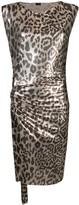 Paco Rabanne Metallic Leopard Pattern Dress