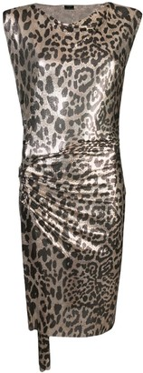 Paco Rabanne Metallic Leopard Pattern Dress