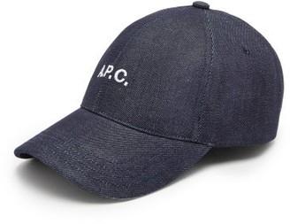 A.P.C. Charlie Logo-embroidered Canvas Baseball Cap - Indigo