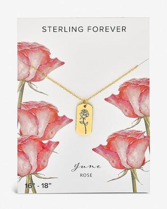 Express Sterling Forever June 'Rose' Birth Flower Necklace