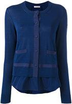 Moncler layered hem cardigan - women - Cotton/Polyester/Viscose - L