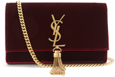 Saint Laurent Kate small velvet shoulder bag