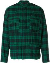 Haider Ackermann plaid shirt jacket