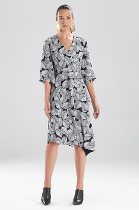 Natori Leaves Of Paradise Wrap Dress