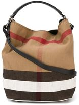 Burberry large check shoulder bag